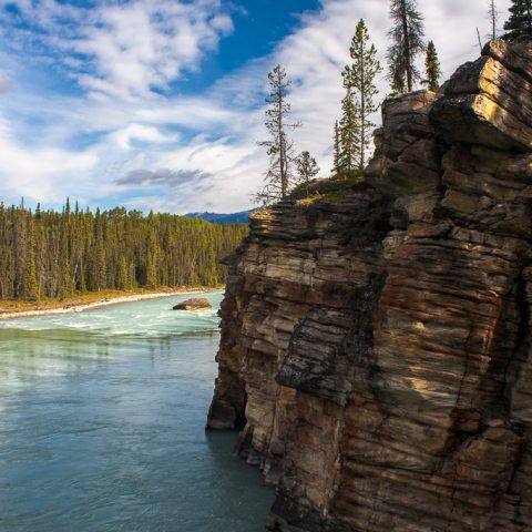 Athabasca River in Alberta, Canada